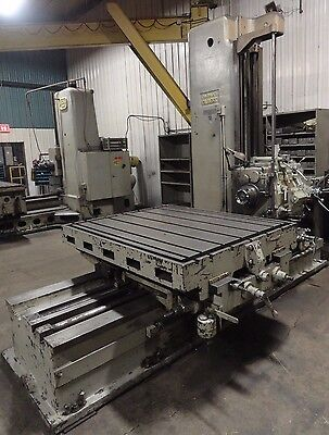 "Cincinnati Gilbert Horizontal Boring Mill Table Type 4"" Spindle Diameter"