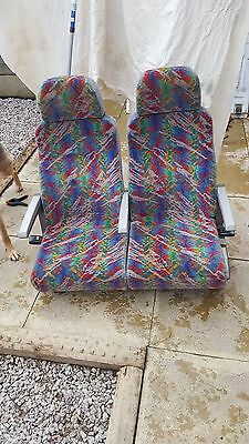 Double Reclining Coach Seats with Seatbelts armrests Van Conversion Camper