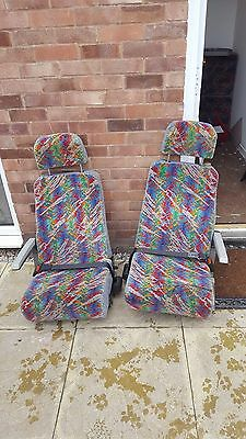 2X Single Reclining Coach Seats with Seatbelts armrests Van Conversion Camper