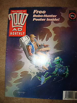 2000AD THE BEST OF No 86 NOVEMBER 1992 + FREE POSTER