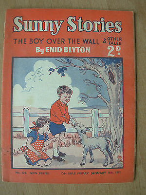 ENID BLYTON SUNNY STORIES MAGAZINE JANUARY 11th 1952 THE BOY OVER THE WALL