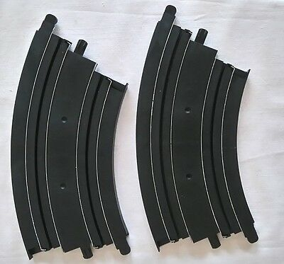 Micro Scalextric Short Curved  Bend Track L7554 X 2