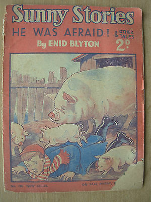 ENID BLYTON SUNNY STORIES CHILDREN'S MAGAZINE MAY 14th 1948 HE WAS AFRAID