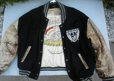 dc4a443cc79bfe Rare Oakland Raiders 1990 1967 Vintage Letterman Nfl Throwback Size L Jacket