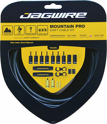 JAGWIRE Mountain Pro Shift Cable Kit, Black Carbon BRAND NEW! FREE SHIPPING!!!