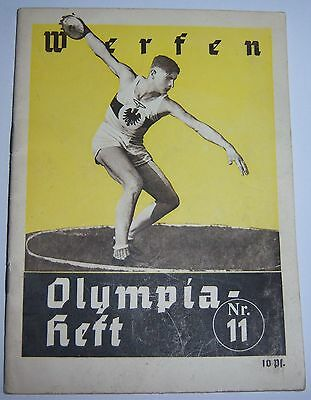 OLYMPICS 1936  Booklet  No.11. -  Throwing.