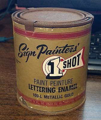One Shot Enamel Paint One Pint Gold Pinstriping Lettering Airbrush Sign Paint