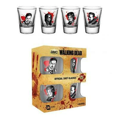 Official Licensed Product The Walking Dead 4 Pack Shot Glass Set CH Negan Daryl