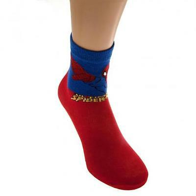 SpiderMan Boys Socks 1 Pack Junior 4-6.5 Red Gift New Official Licensed Product