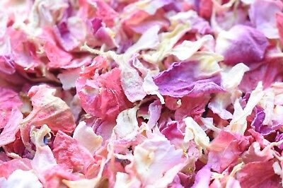 Slowfall Real Dried Petal Biodegradable Wedding Confetti Rasberry Ripple 1L