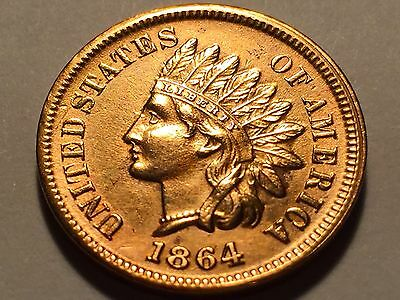 1864-L Indian Head Cent  Longacre  * Choice BU Red #1*