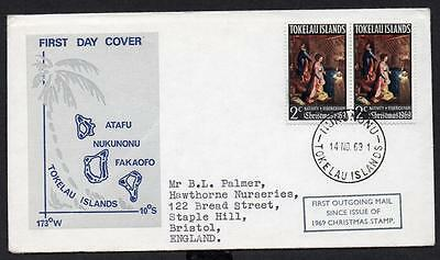 Tokelau Islands 1969 Christmas Cover