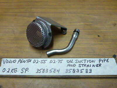 Volvo Penta D2-55 D2-75 Oil Suction Pipe & Oil Strainer 3583584, 3583583