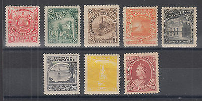 Salvador Sc 170A//170L MLH. 1897 unwatermarked Pictorials, 8 different, F-VF