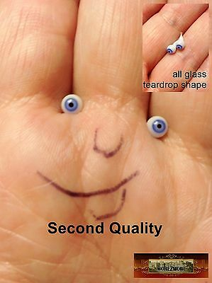 M00051 MOREZMORE Glass Eyes SECONDS 4mm 1:6 1/6 Scale BLUE Small Miniature A60