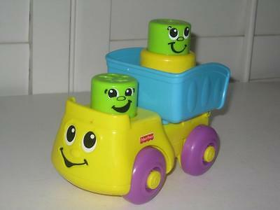 Fisher Price Peek A Boo Stack N Surprise Dump Truck 1 Pop Up Block Baby Toy
