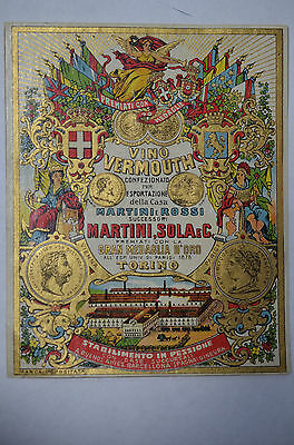 Vino Vermouth, Martini & Rossi Label, 19th century