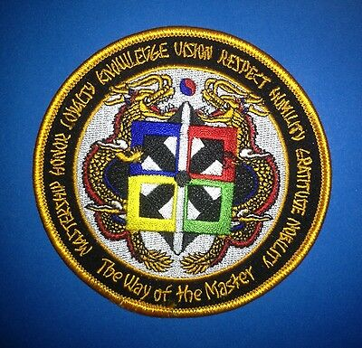 THE WAY OF THE MASTER MMA Martial Arts TKD Uniform Gi Iron On Patch Crest 411