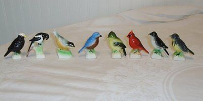 Lot 8 Vtg Canadian Tenderleaf Tea Premium Bird Figurines VGC