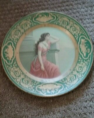 TIN LITHOGRAPH ADVERTISING Plate / TRAY VIENNA ART PLATE VINGTAGE  lot g