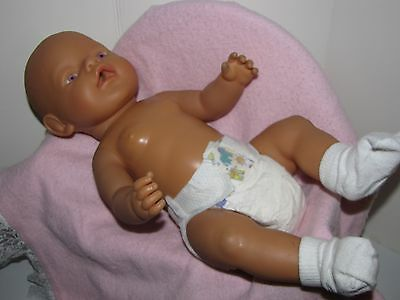 "Zaph Creations Baby Doll Drinks and Wets 17"" Long Violet Eyes Vinyl Body 2003"