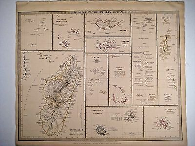 1838 SDUK: Maps of Islands in the Indian Ocean - Madagascar, Seychelles, etc.