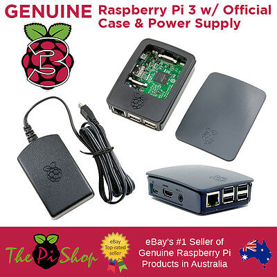 Raspberry Pi 3 + Official Case + Official 5.1v 2.5a Power Supply | Starter Pack