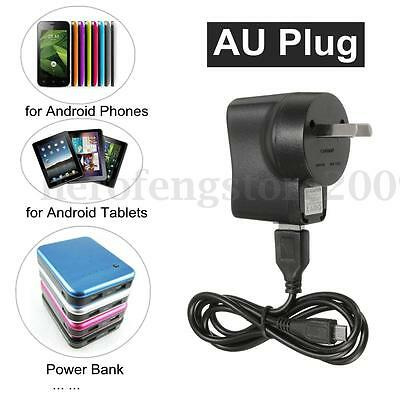 AU Plug Wall Charger Power Supply Jack + USB Cable Set For Samsung Android Phone