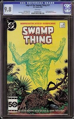 Swamp Thing # 37 CGC 9.8 White (DC, 1985) 1st appearance John Constantine