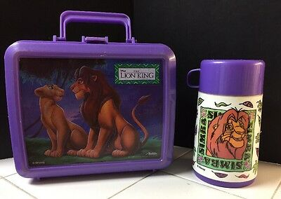 1990's Disney's The Lion King  ALADDIN  LUNCHBOX & THERMOS