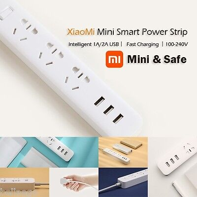 Original XiaoMi Smart Mini Power Strip 3 USB Ports 6 Outlet 3 Sockets Adapter