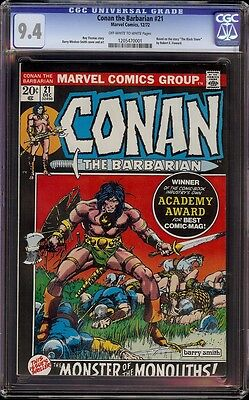 Conan # 21 CGC 9.4 OW/W (Marvel, 1972) Classic Pictureframe cover