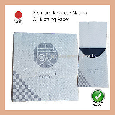Premium Natural Sumi Oil Blotting Control Paper  Film 100s (Made in Japan)