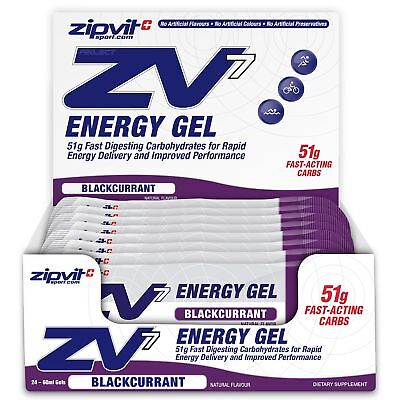 Zipvit Sport ZV7 Gym Cycling Energy Gels (24 x 60ml) - 51g Carbohydrate