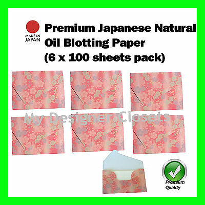Premium Natural Oil Blotting Control Paper  Film Flowers 6x100s (Made in Japan)