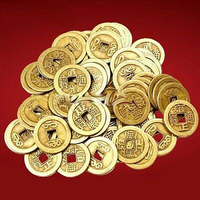 100pcs Emperor Feng Shui Chinese Oriental Money Lucky Coin X Lot I Ching Charm