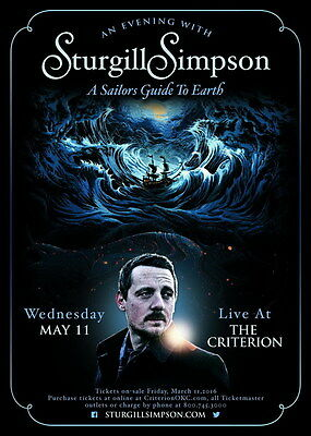 "MX19709 Sturgill Simpson - American Country Roots Rock Music Star 14""x19"" Poster"