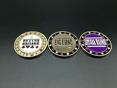 New Big Blind, Small Blind & Dealer Button,Poker buttons,Texas hold'em buttons