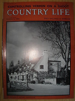 VINTAGE COUNTRY LIFE MAGAZINE MARCH 5th 1959 IDEAL BIRTHDAY GIFT - SHOTTERY