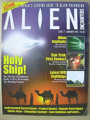 ALIEN ENCOUNTERS MAGAZINE - THE WORLDS LEADING GUIDE TO UFO - No 7 JANUARY 1997