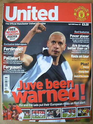 Manchester United Official Magazine Issue 127 April 2003