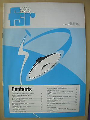 FSR FLYING SAUCER REVIEW MAGAZINE - VOLUME 34 No 2 - 1989 - UFO