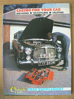 Classic Cars Magazine Supplement Caring For Your Car Servicing Waxoyling Valet