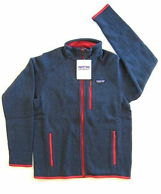 Patagonia Men's BETTER SWEATER™ Fleece Jacket - Classic Navy / Totally Red  - S