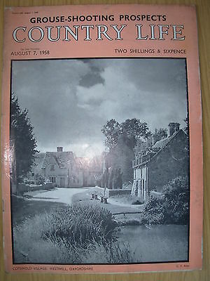 VINTAGE COUNTRY LIFE MAGAZINE AUGUST 7th 1958 IDEAL BIRTHDAY GIFT - WESTWELL
