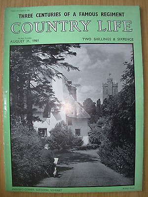 VINTAGE COUNTRY LIFE MAGAZINE AUGUST 31st 1961 IDEAL BIRTHDAY GIFT - LUCCOMBE