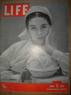 VINTAGE LIFE MAGAZINE APRIL 12th 1948 TROUBLE TORN CZECHOSLOVAKIA