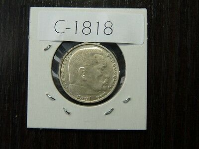 Vintage Coin Germany Third Reich 1938 A 2 Marks Silver  Cat Value 65.00   C1818