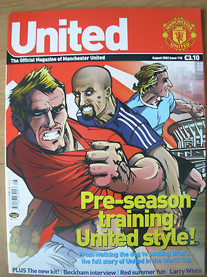 Manchester United Official Magazine Issue 118 August 2002