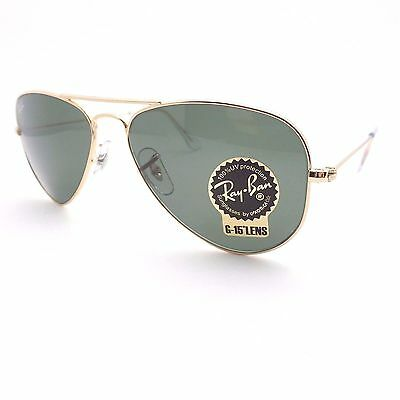 Ray Ban 3044 New Small Aviator Gold L0207 52mm Petite  Authentic Sunglasses